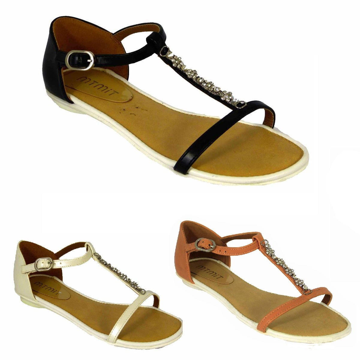 Ladies Womens New Mid Wedge Heel Ankle Strap Summer Gladiator Sandals Shoes Size