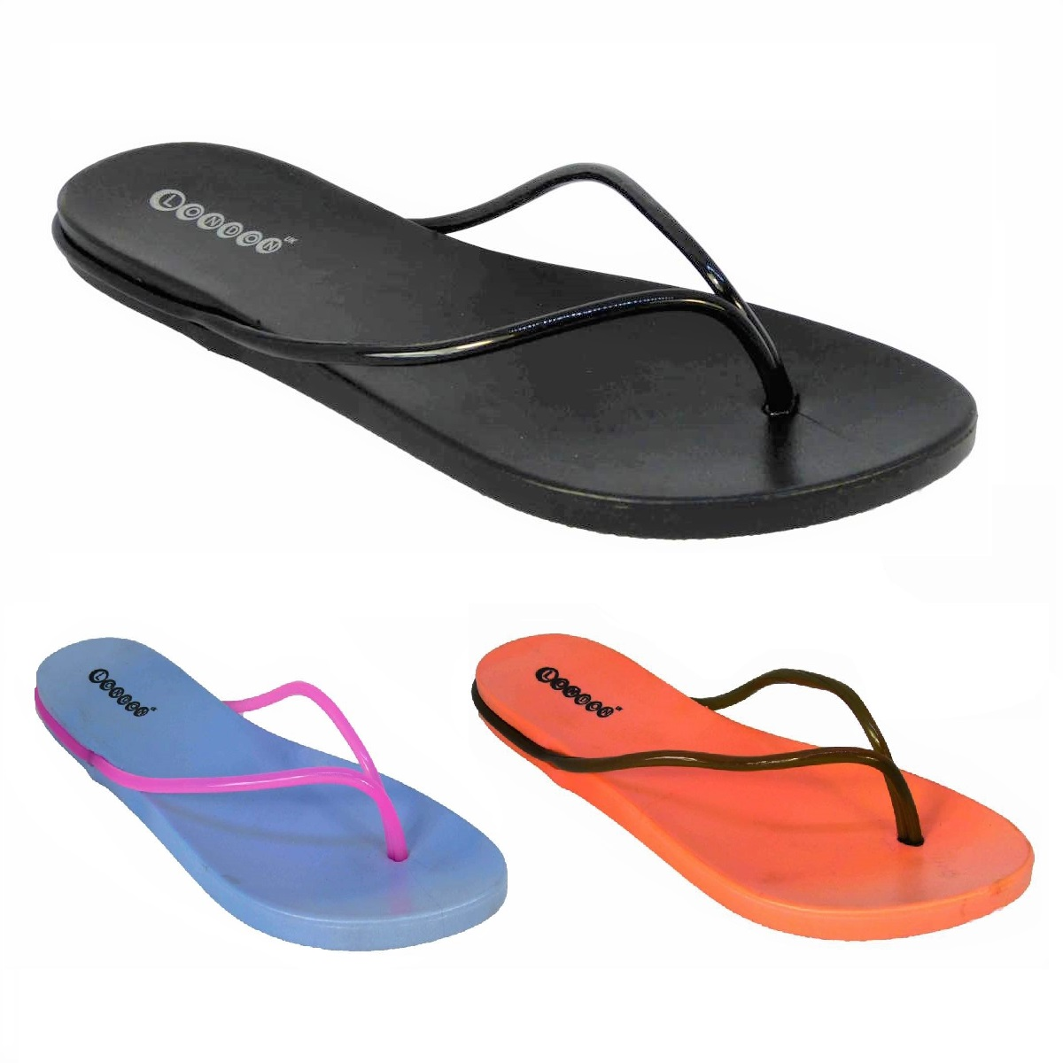 976bd4971 Details about NEW WOMENS LADIES JELLY SUMMER FLAT FLIP FLOP THONG SANDALS  BEACH SHOES SIZE 3-8